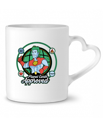 Mug Coeur Planet Earth Approved par Kempo24
