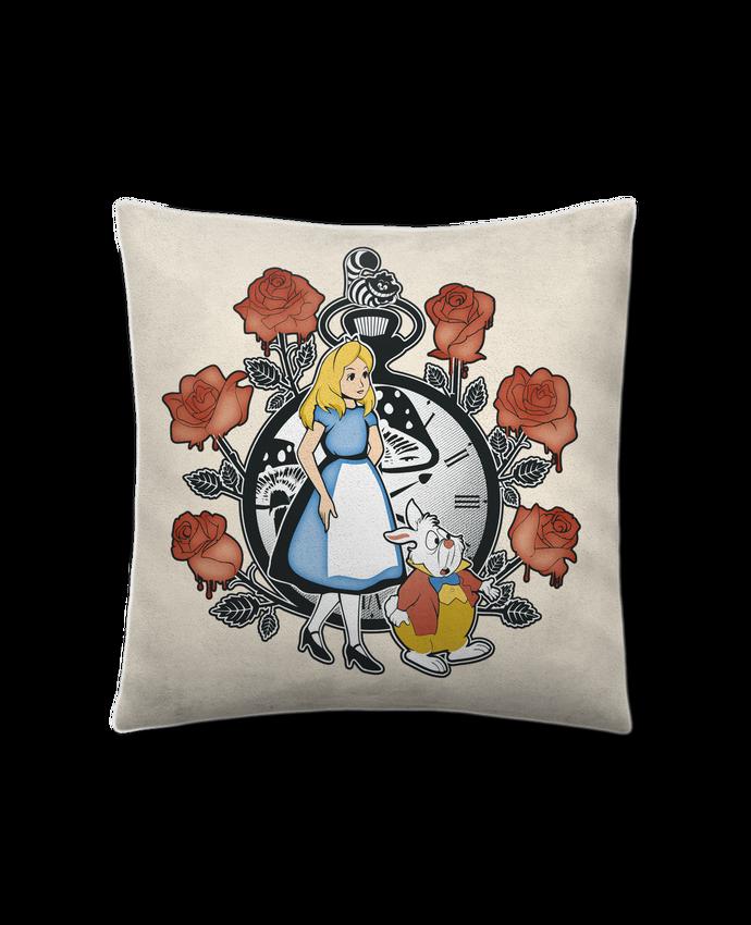 Coussin Toucher Peau de Pêche 41 x 41 cm Time for Wonderland par Kempo24
