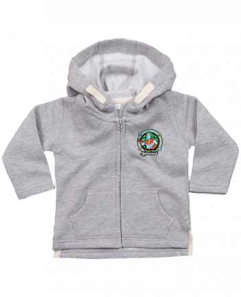 Sweat Bébé Zippé à Capuche Planet Earth Approved par Kempo24