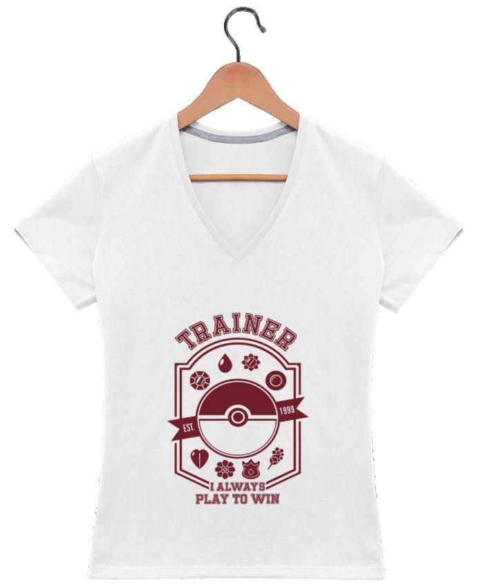 T-shirt Col V Femme 180 gr Trainer since 1999 par Kempo24