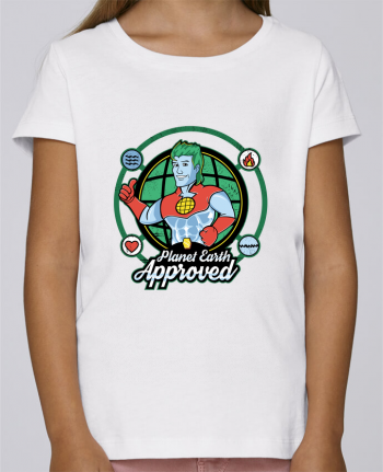 T-shirt Fille Mini Stella Draws Planet Earth Approved par Kempo24