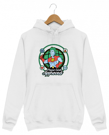 Sweat Shirt à Capuche Homme Planet Earth Approved par Kempo24