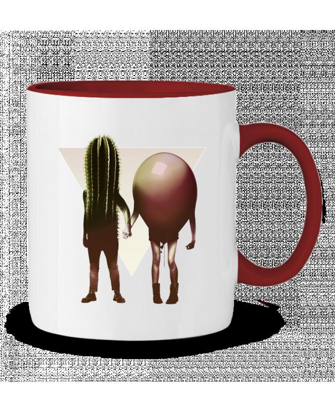 Mug en Céramique Bicolore Couple Hori ali_gulec