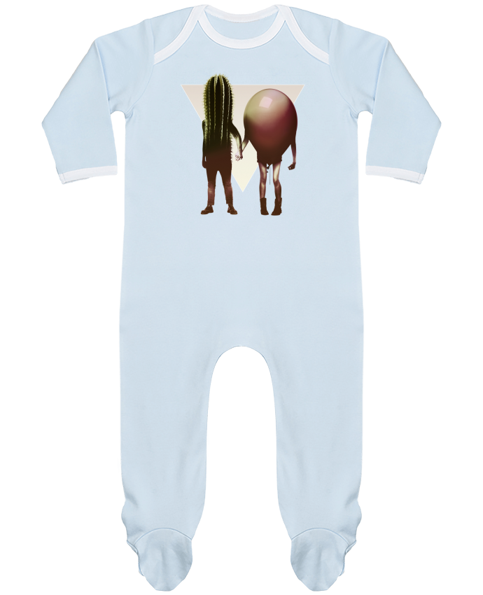 Pyjama Bébé Manches Longues Contrasté Couple Hori par ali_gulec