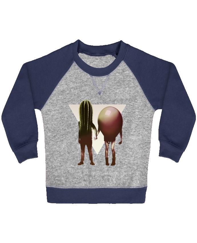 Sweat Shirt Bébé Col Rond Manches Raglan Contrastées Couple Hori par ali_gulec