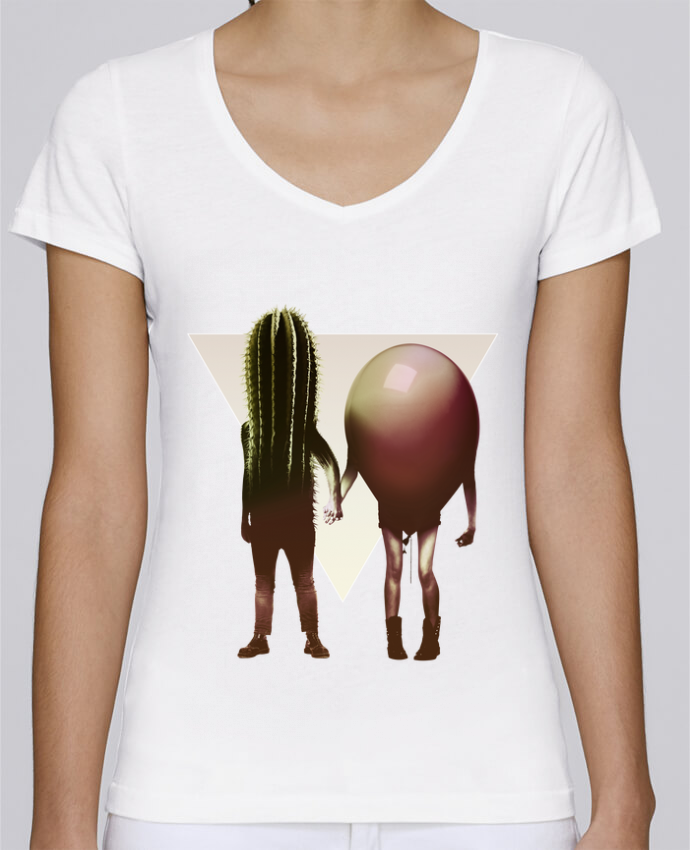 T-shirt Femme Col V Stella Chooses Couple Hori par ali_gulec