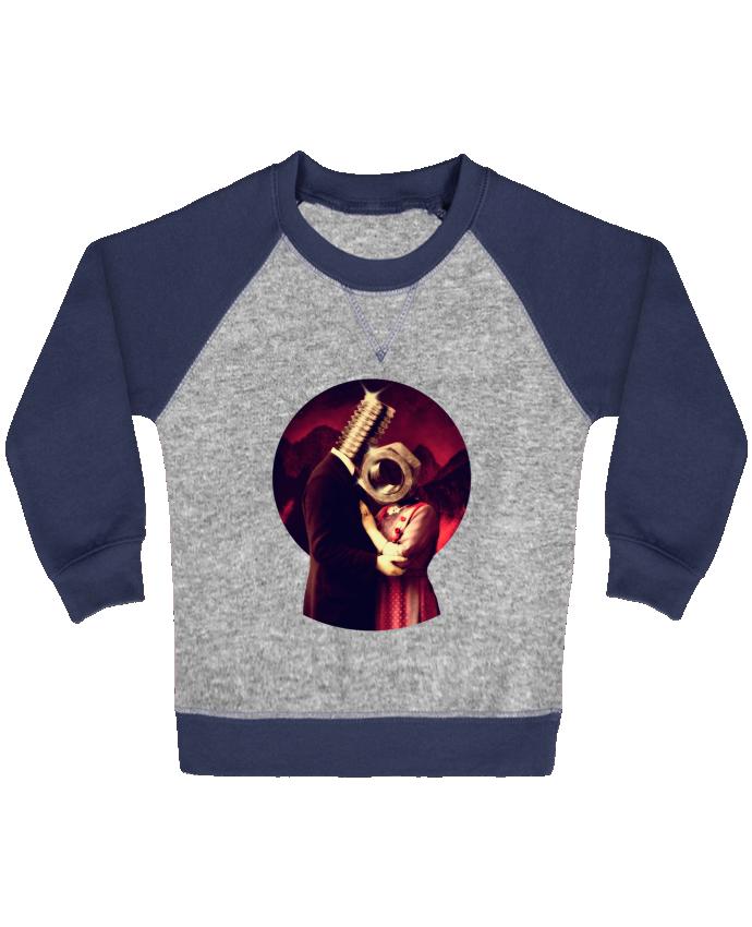 Sweat Shirt Bébé Col Rond Manches Raglan Contrastées Screw Love par ali_gulec