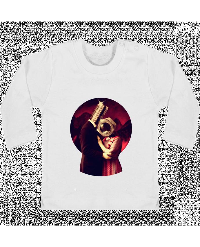 T-shirt Bébé Manches Longues Boutons Pression Screw Love manches longues du designer ali_gulec