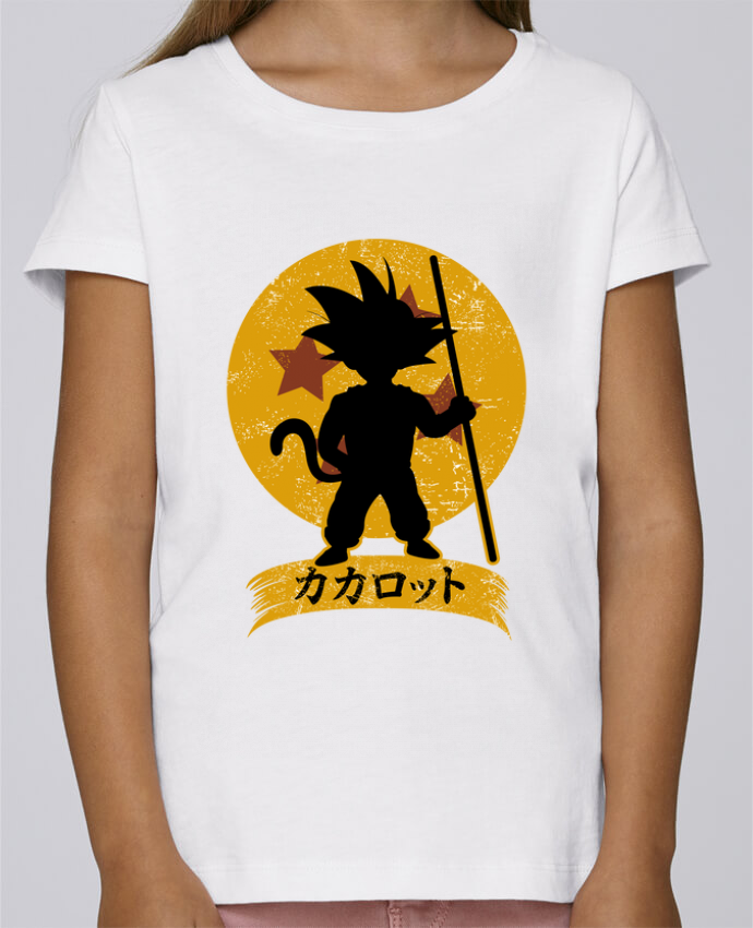 T-shirt Fille Mini Stella Draws Kakarrot Crest par Kempo24