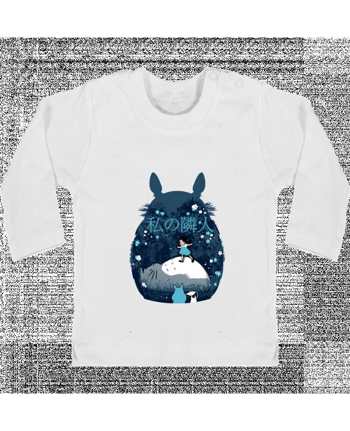 T-shirt Bébé Manches Longues Boutons Pression My neighbour night manches longues du designer Kempo24