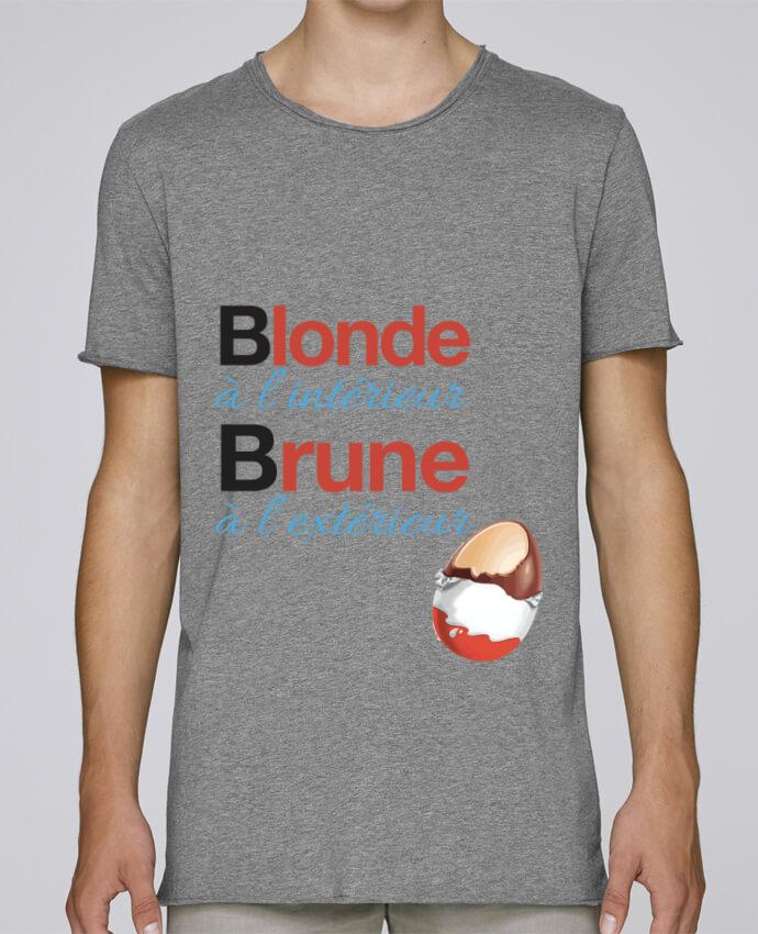 T-shirt Homme Oversized Stanley Skates Blonde à l'intérieur / Brune à l'extérieur par Monidentitevisuel
