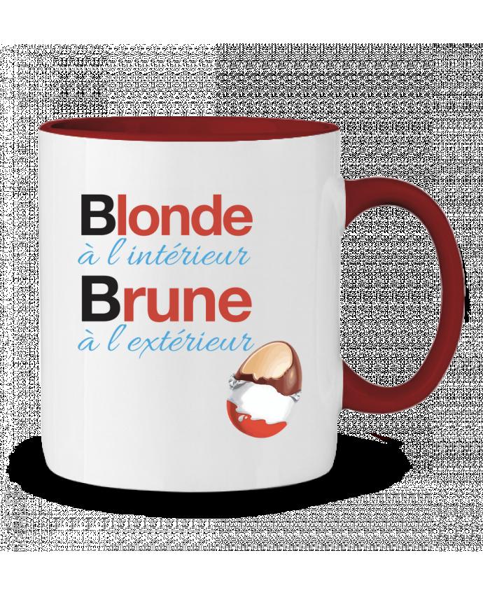 Mug en Céramique Bicolore Blonde à l'intérieur / Brune à l'extérieur Monidentitevisuelle