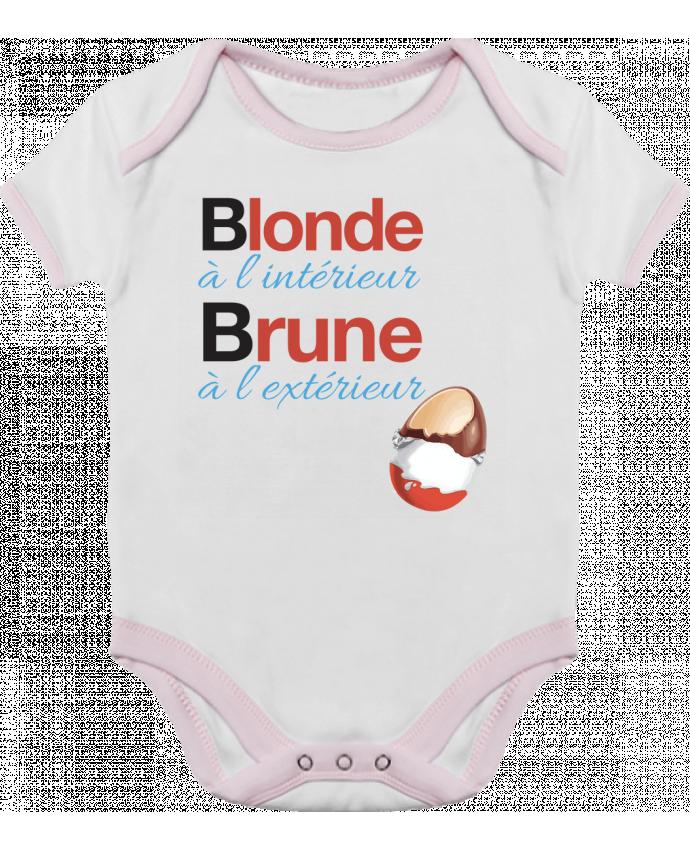 Body Bébé Contrasté Blonde à l'intérieur / Brune à l'extérieur par Monidentitevisuelle