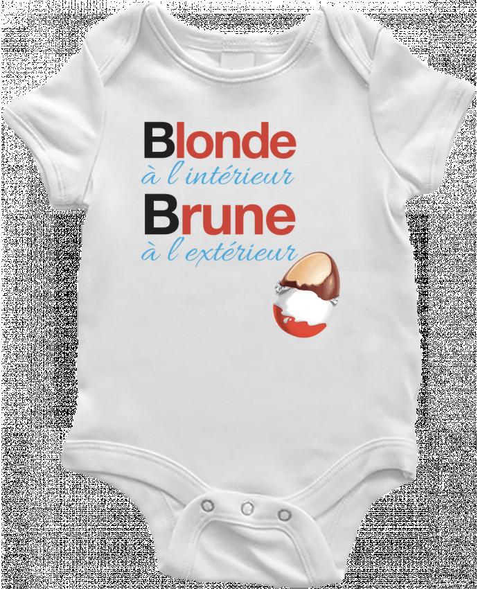 Body bébé Blonde à l'intérieur / Brune à l'extérieur par Monidentitevisuelle