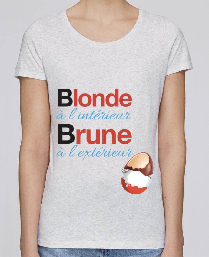 T-shirt Femme Stella Loves Blonde à l'intérieur / Brune à l'extérieur par Monidentitevisuelle