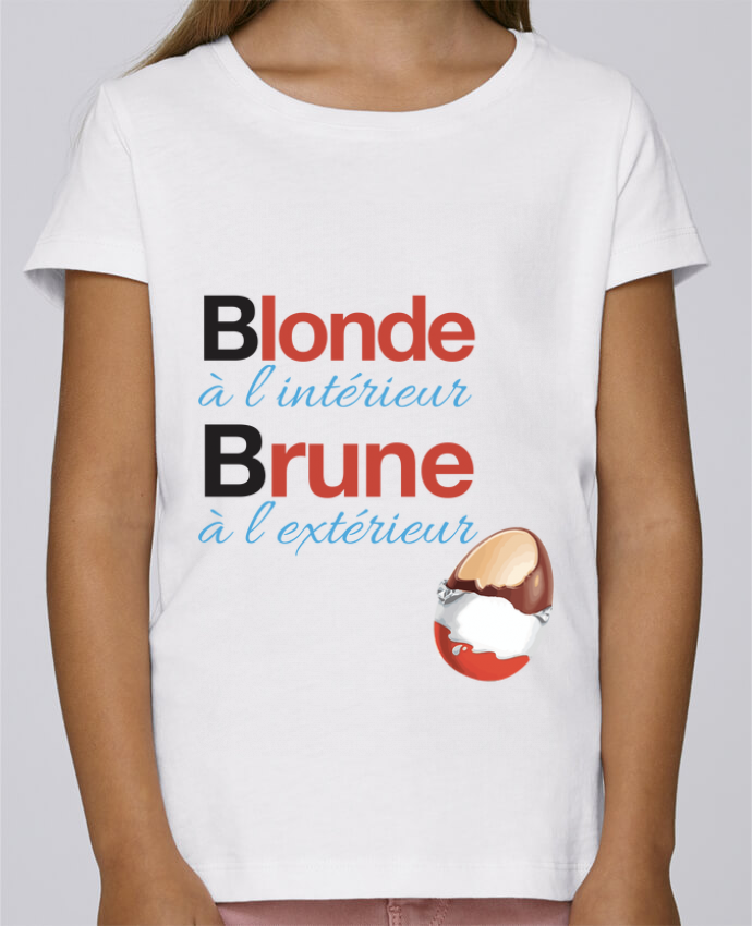 T-shirt Fille Mini Stella Draws Blonde à l