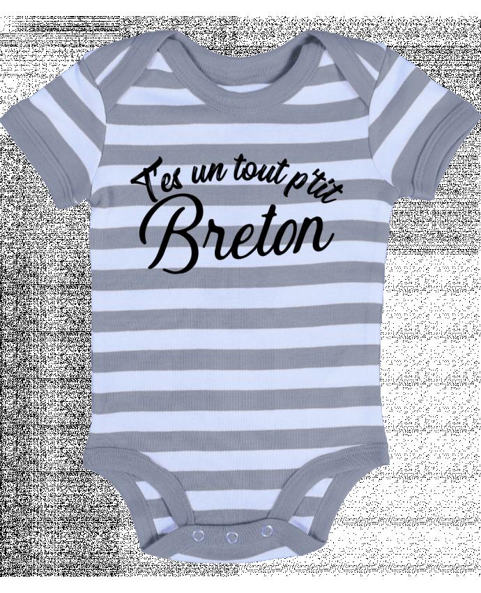 Body Bébé à Rayures P'tit breton cadeau - Original t-shirt