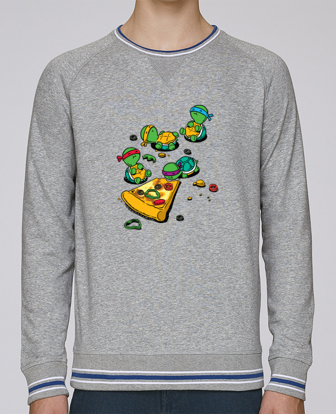 Sweat Col Rond Homme Stanley Strolls Tipped Pizza lover par flyingmouse365