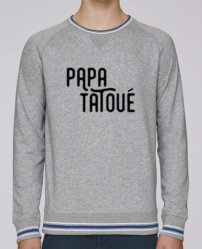 Sweat Col Rond Homme Stanley Strolls Tipped Papa Tatoué par tunetoo