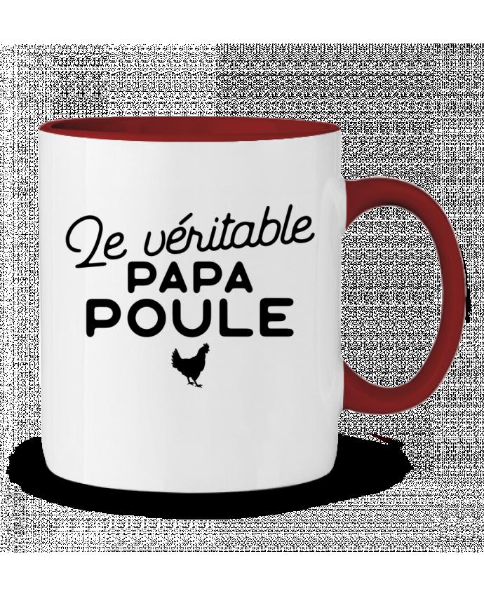Mug en Céramique Bicolore Papa poule cadeau noël Original t-shirt