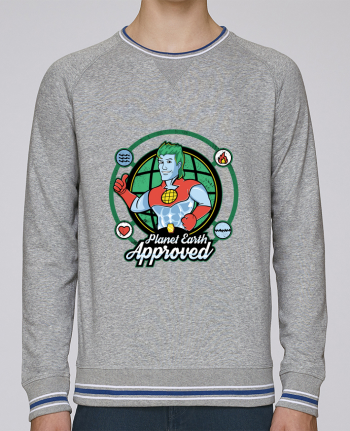 Sweat Col Rond Homme Stanley Strolls Tipped Planet Earth Approved par Kempo24
