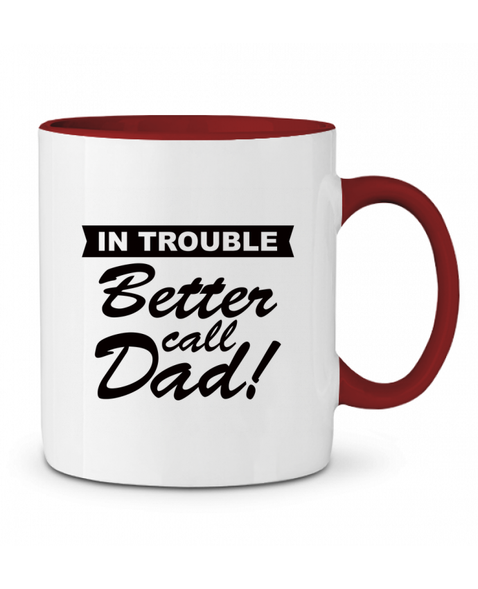 Mug en Céramique Bicolore Better call dad Freeyourshirt.com