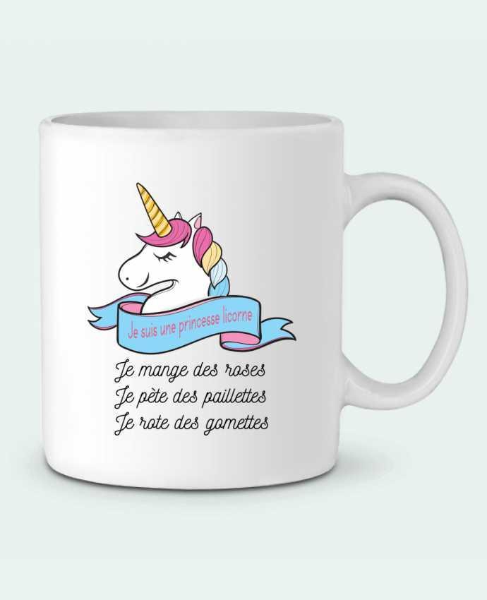 Mug en Céramique Je suis une princesse licorne par tunetoo