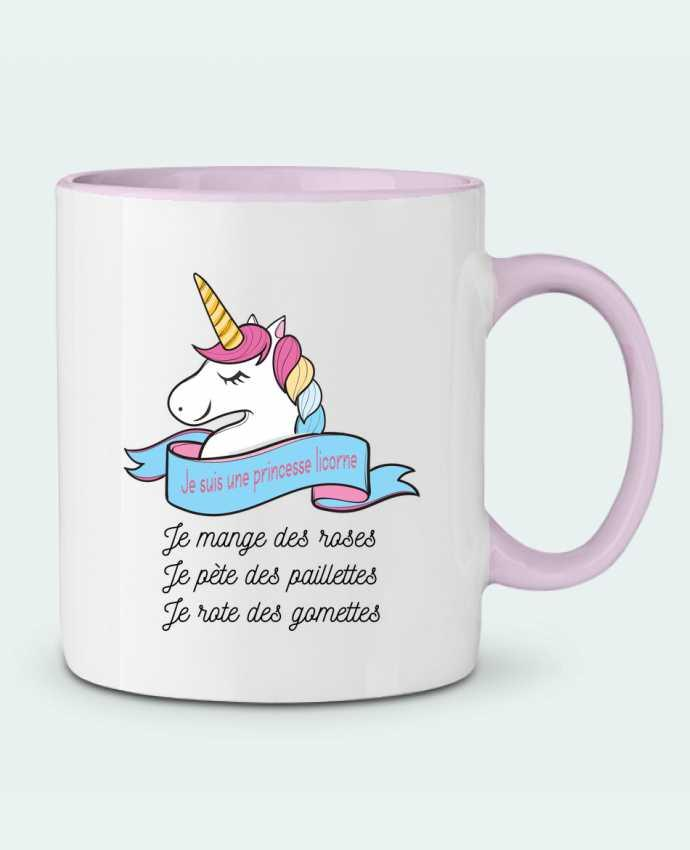 Mug bicolore Je suis une princesse licorne tunetoo