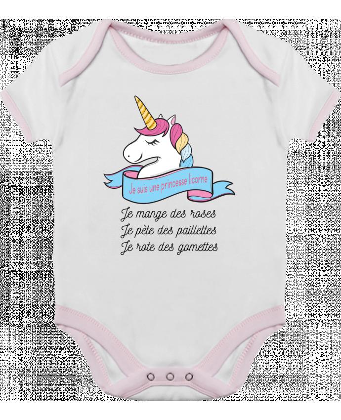 Body Bébé Contrasté Je suis une princesse licorne par tunetoo