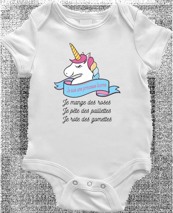 Body Bébé Je suis une princesse licorne par tunetoo