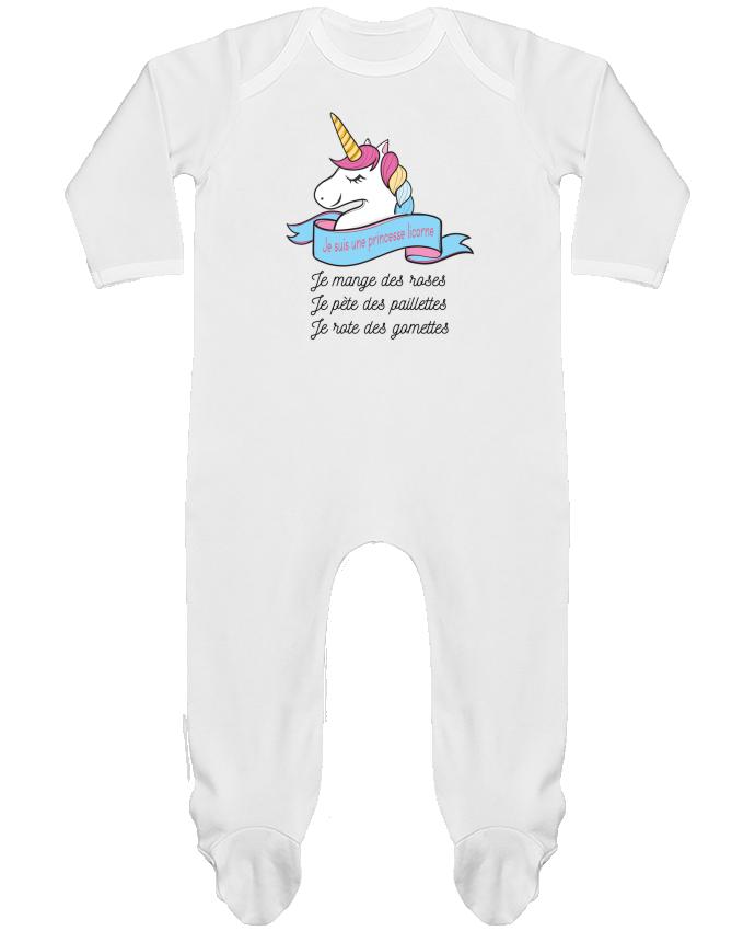 Body Pyjama Bébé Je suis une princesse licorne par tunetoo