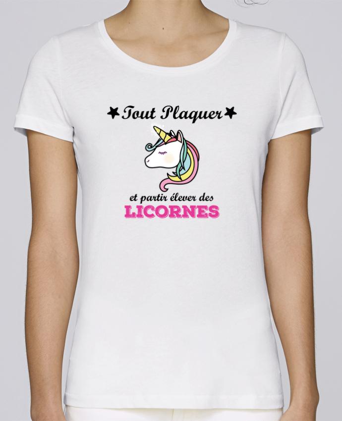 T-shirt Femme Stella Loves Tout plaquer et partir élever des licornes par tunetoo