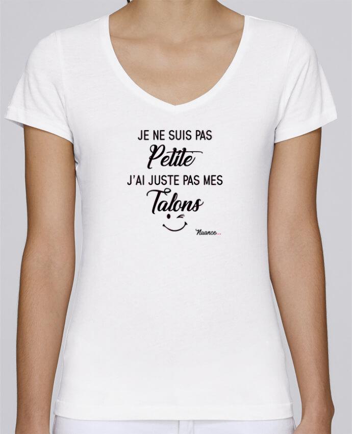 T-shirt Femme Col V Stella Chooses Je ne suis pas petite, j'ai juste pas mes talons par tunetoo