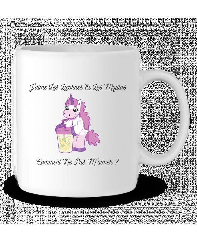 Mug en Céramique J'aime les licornes et les mojitos. Comment ne pas m'aimer ? par tunetoo
