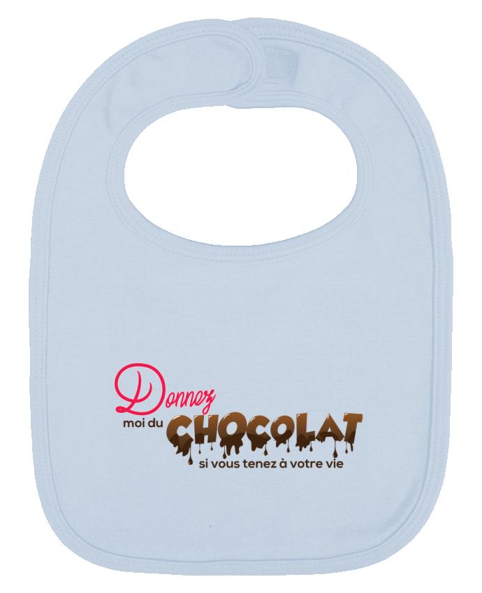 Bavoir Uni et Contrasté Donnez moi du chocolat !! par tunetoo