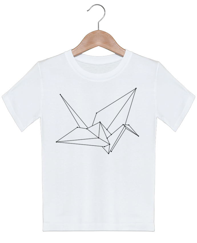 T-shirt garçon motif Origami bird /wait-design
