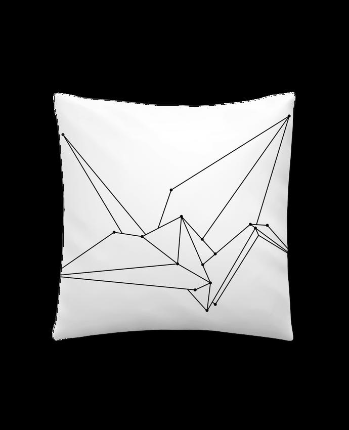 Coussin Synthétique Doux 41 x 41 cm Origami bird par /wait-design