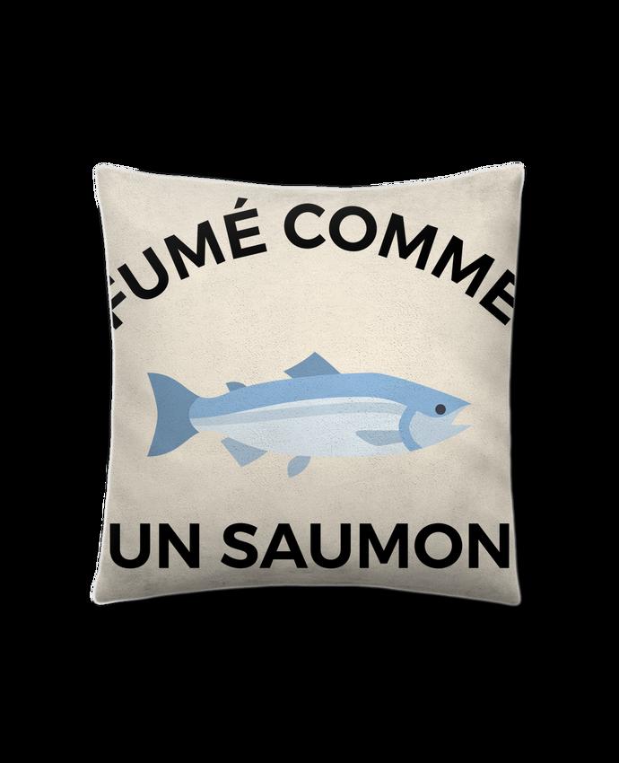 Coussin Toucher Peau de Pêche 41 x 41 cm fumé comme un saumon par Ruuud