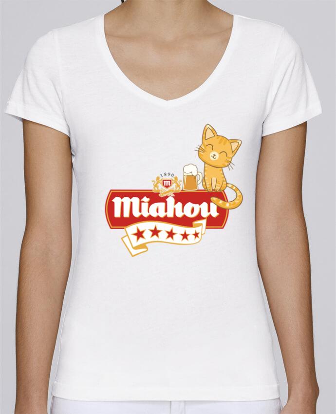 T-shirt Femme Col V Stella Chooses Miahou par ParanoiaRecords