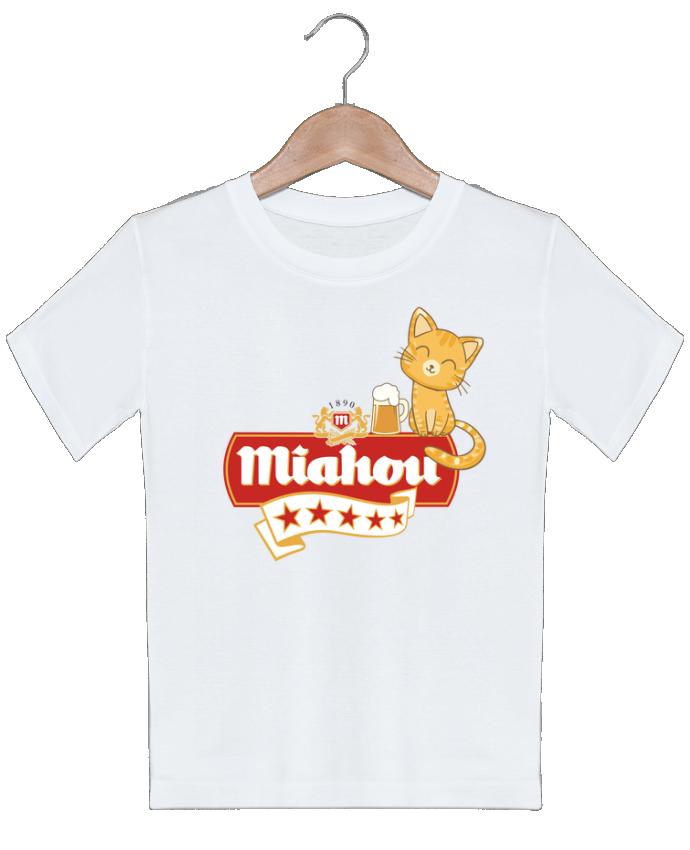 T-shirt garçon motif Miahou ParanoiaRecords