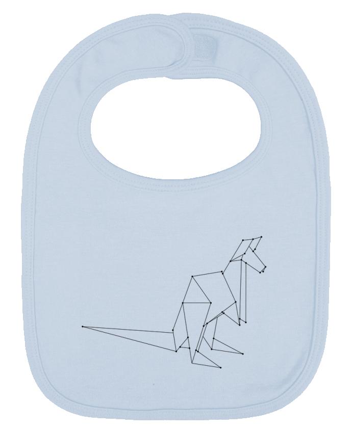 Bavoir Uni et Contrasté Origami kangourou par /wait-design