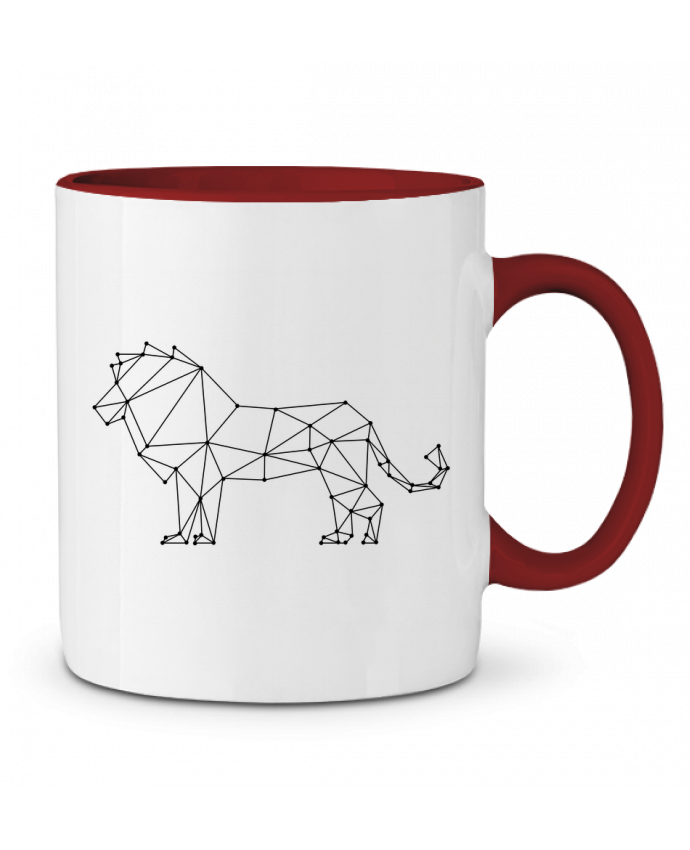 Mug en Céramique Bicolore Origami lion /wait-design