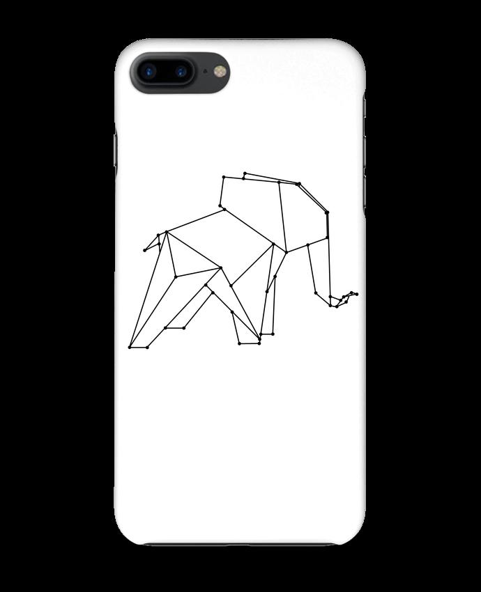 coque 3d iphone 7  origami elephant   wait-design