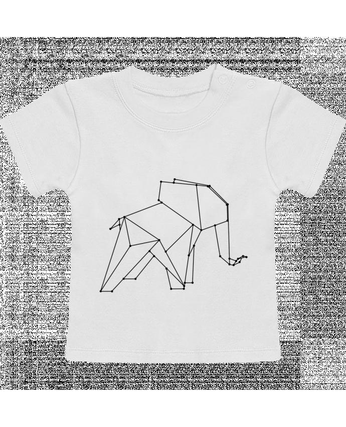 T-Shirt Bébé Manches Courtes Origami elephant manches courtes du designer /wait-design