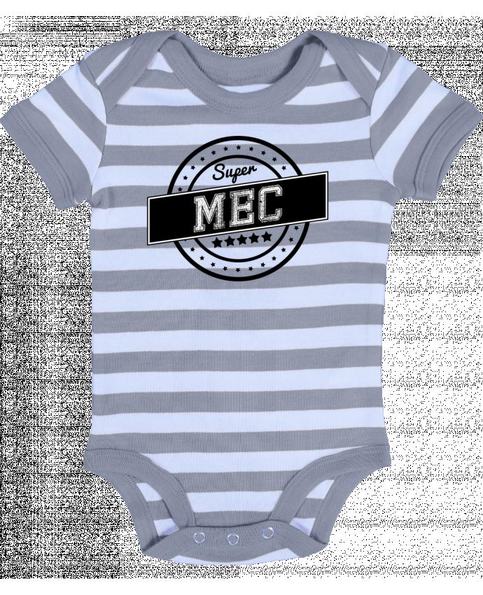 Body Bébé à Rayures Super mec - justsayin