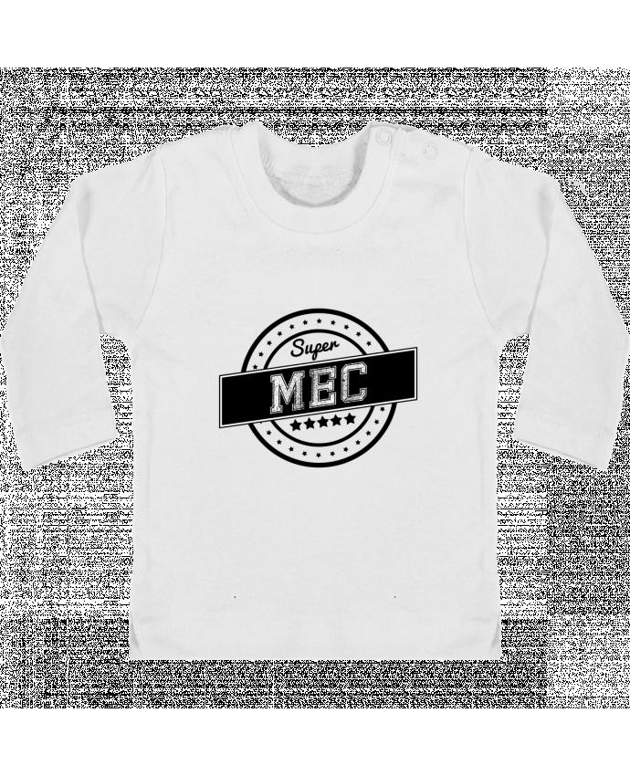 T-shirt Bébé Manches Longues Boutons Pression Super mec manches longues du designer justsayin
