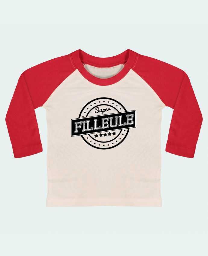 T-shirt Bébé Baseball Manches Longues Super filleule par justsayin