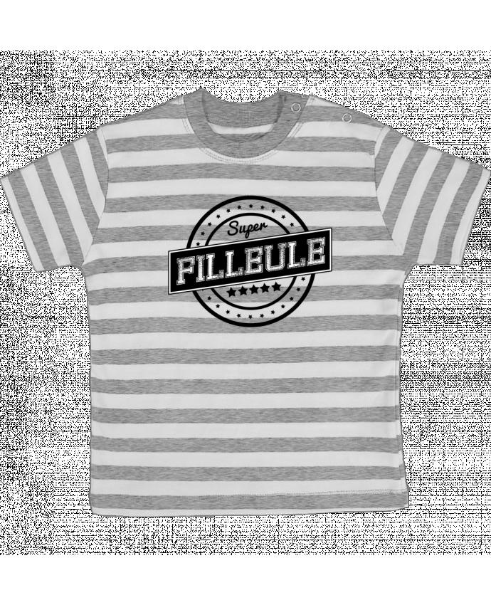 T-shirt Bébé à Rayures Super filleule par justsayin