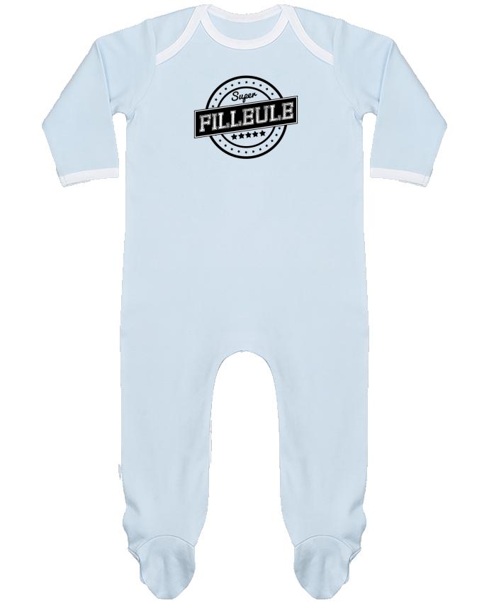 Pyjama Bébé Manches Longues Contrasté Super filleule par justsayin