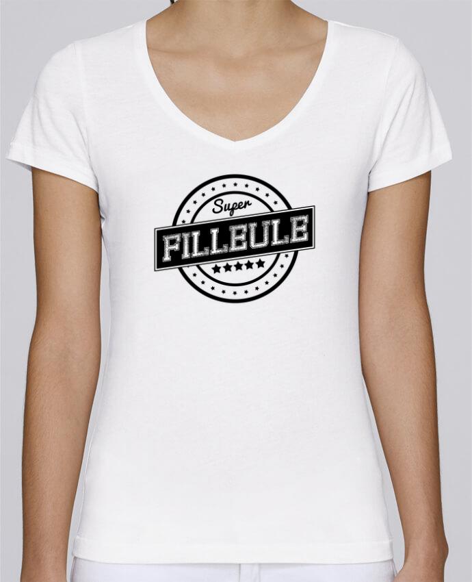 T-shirt Femme Col V Stella Chooses Super filleule par justsayin